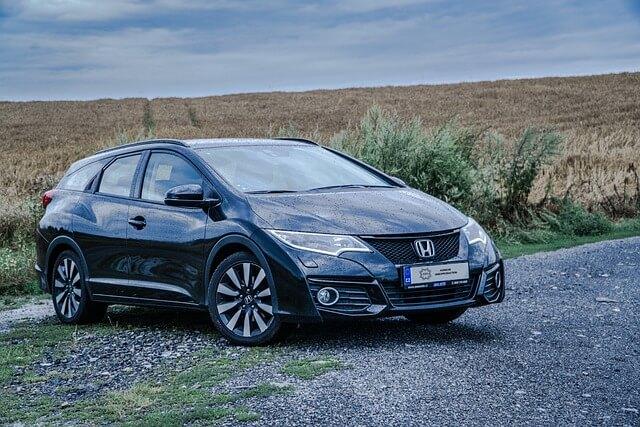 Blue Honda hatchback